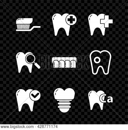 Set Toothbrush With Toothpaste, Dental Clinic For Dental Care, Whitening Concept, Implant, Calcium,