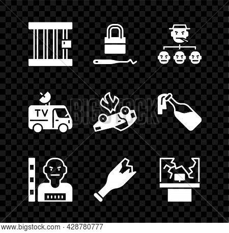 Set Prison Window, Lock Picks For Lock Picking, Mafia, Suspect Criminal, Broken Bottle As Weapon, Tv