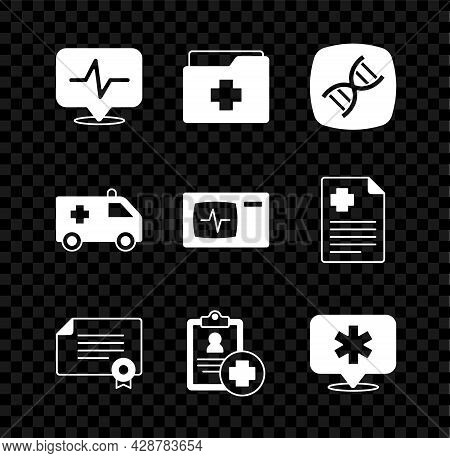 Set Heart Rate, Patient Record, Dna Symbol, Certificate Template, Location Hospital, Ambulance Car A