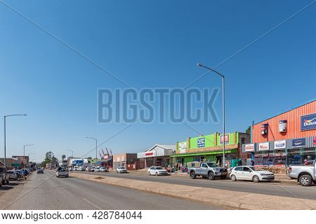 Aliwal North, South Africa - April 23, 2021: A Street Scene, With Businesses, In Aliwal North In The