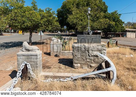 Aliwal North, South Africa - April 23, 2021: Centenary Stone Commemorating The Founding Of Aliwal No