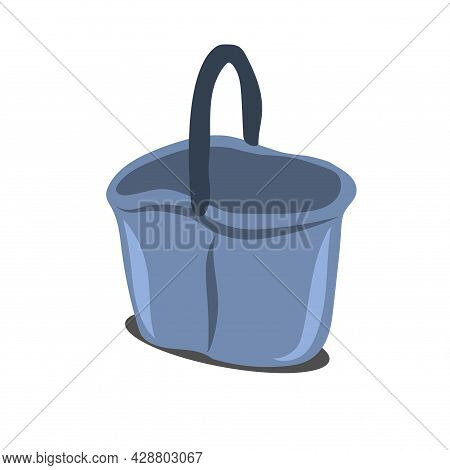 Plastic Bucket For Cleaning Floors.  Cleaning Equipment And Tools. Household Items For Cleaning And