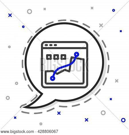 Line Histogram Graph Photography Icon Isolated On White Background. Colorful Outline Concept. Vector