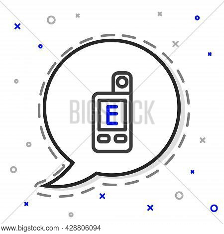 Line Light Meter Icon Isolated On White Background. Hand Luxmeter. Exposure Meter - A Device For Mea