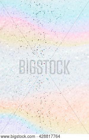 Pastel glittery rainbow background design