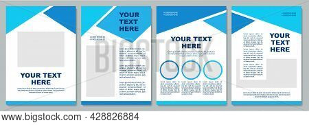 Geometric Informational Brochure Template. Flyer, Booklet, Leaflet Print, Cover Design With Copy Spa