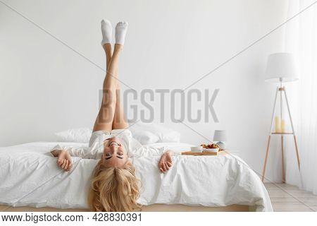 Lazy Morning, Great Mood, Enjoy Lazy Good Morning And Breakfast Alone