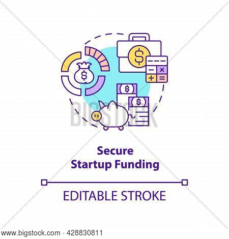 Secure Startup Funding Concept Icon. Find Investment For New Project. Business Finance. Startup Laun