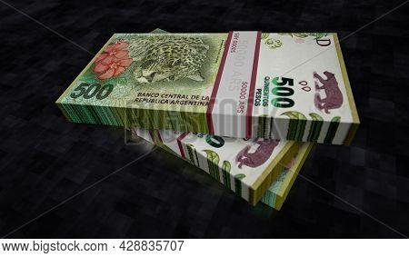Argentina Peso Money Banknotes Pack Illustration
