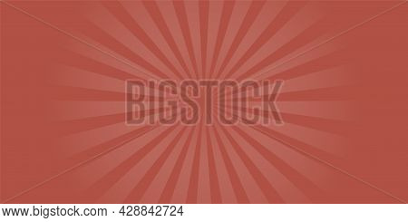 Background With Radial Rays For Circus Poster. Cartoon Pop Art Backdrop With Stripes. Retro Sunburst