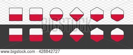 poland flag . poland flag icon, poland flag vector, poland flag isolated, poland flag images, abstract national flag of poland. vector illustration