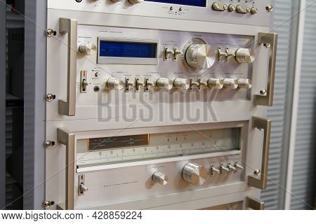 An Analog Stereo Amplifier And A Stereo Analog Tuner In A Low-current Rack.