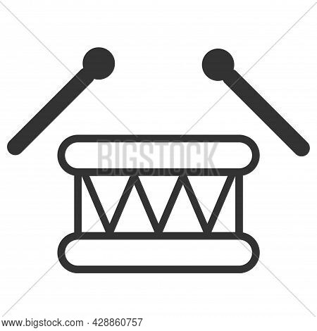 Isolated Drum Icon Symbol On Clean Background. Drum Icon, Musical Instrument Icon Vector Art Illustr