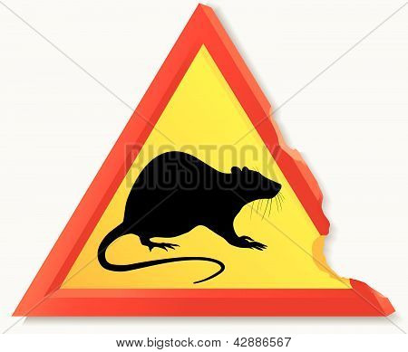 Road sign with rat