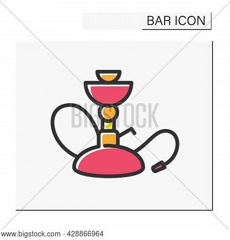 Hookah Color Icon. Hookah Bar, Shop. Smoke Bar. Lounge. Restaurant, Night Club, Bar Menu. Cocktail P