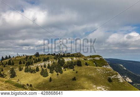 Landscape Of Mont Rond Located In The French Jura Mountains.