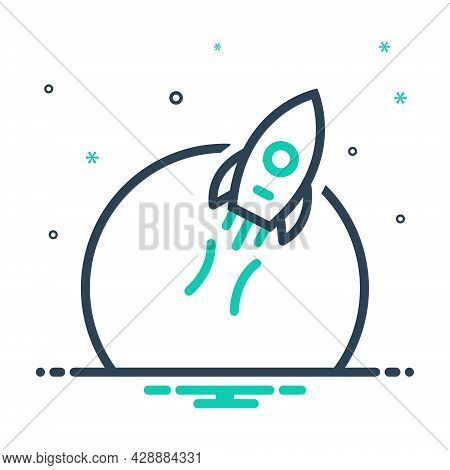 Mix Icon For Success-mission Success Mission Operation Exploration Space Flame Astronomy Achievement