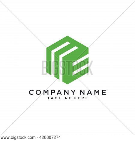 Me Or Em Initial Logo Design Vector. Me Letter. Me Icon