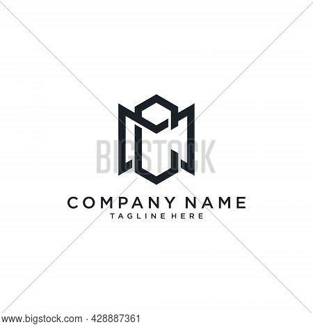 Mc Or Cm Initial Logo Design Vector. Mc Icon. Mc Letter