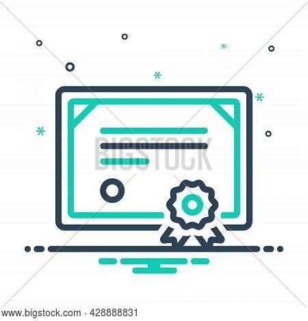 Mix Icon For Certificate Affidavit Authentication Authorization Certification Credential Documentati
