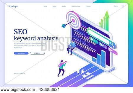 Seo Keyword Analysis Website. Research, Ranking And Analytics Of Search Engine Optimization Of Conte