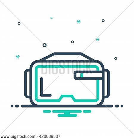 Mix Icon For Virtual-glasses Virtual Glasses Augmented Technology Reality Eyewear Vr Gadget