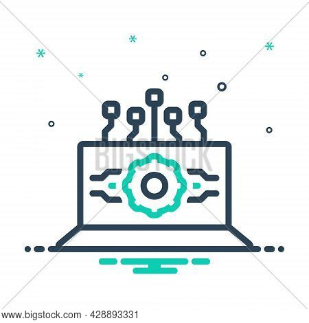 Mix Icon For Api-interface Api Interface Software Computing Interface Application Browser Coding Opt