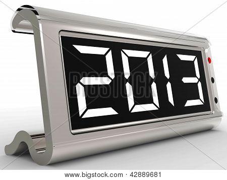Desk Calendar Shows Year Two Thousand Thirteen