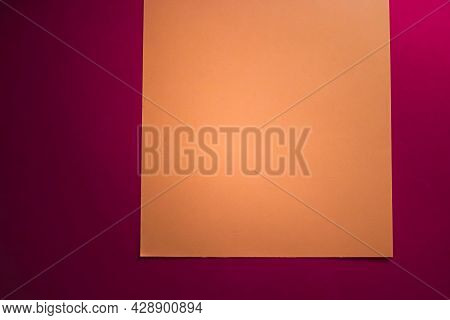 Blank A4 Paper, Brown On Pink Background As Office Stationery Flatlay, Luxury Branding Flat Lay And
