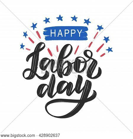 Happy Labor Day Modern Typography Poster As Template For Greeting Card, Banner, Poster, Social Media