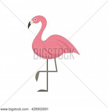 Flamingo Bird Icon. Flat Illustration Of Flamingo Bird Vector Icon Isolated On White Background