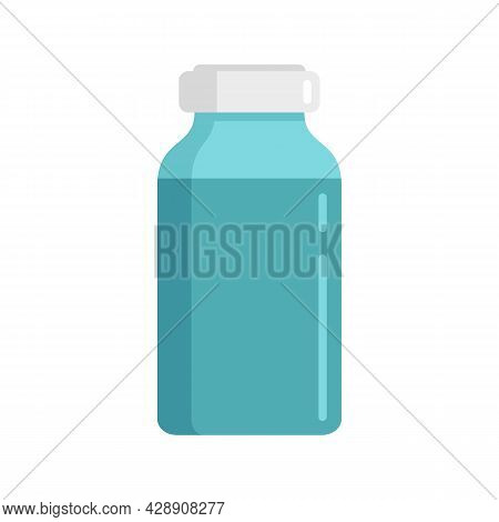 Insulin Dose Bottle Icon. Flat Illustration Of Insulin Dose Bottle Vector Icon Isolated On White Bac