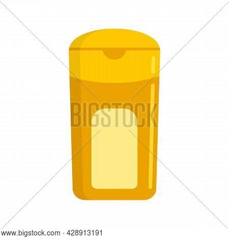 Sunscreen Cream Bottle Icon. Flat Illustration Of Sunscreen Cream Bottle Vector Icon Isolated On Whi