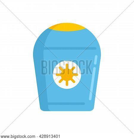 Antiseptic Cream Bottle Icon. Flat Illustration Of Antiseptic Cream Bottle Vector Icon Isolated On W