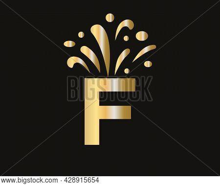 F Letter Logo With Luxury Concept. Elegant F Logo Luxury And Celebration Concept.