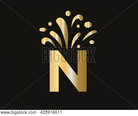 Initial N Letter Logo With Luxury Concept. Elegant N Logo Luxury And Celebration Concept