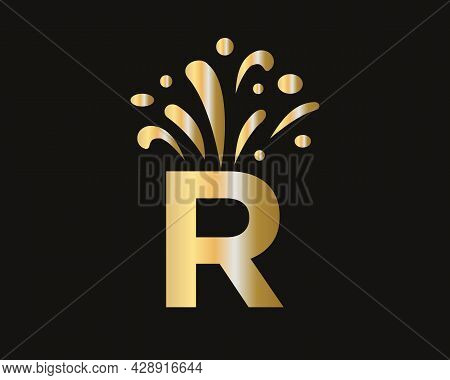Elegant R Logo Luxury And Celebration Concept. Initial R Letter Logo With Luxury Concept.