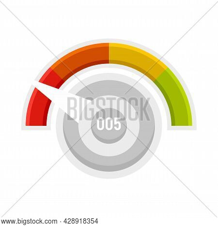 Low Credit Score Icon. Flat Illustration Of Low Credit Score Vector Icon Isolated On White Backgroun
