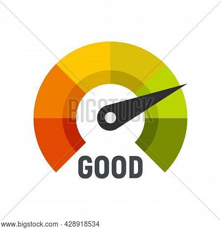Good Dial Level Icon. Flat Illustration Of Good Dial Level Vector Icon Isolated On White Background