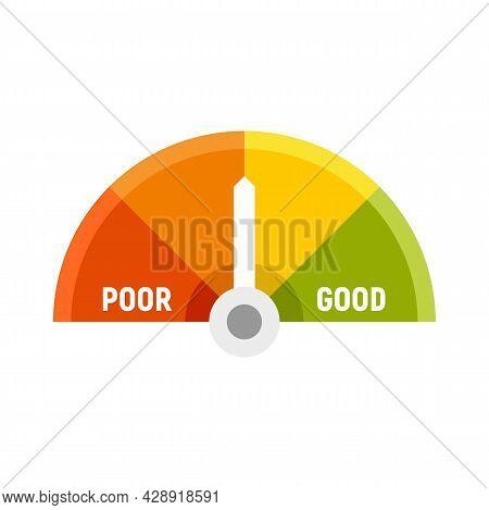Medium Credit Score Icon. Flat Illustration Of Medium Credit Score Vector Icon Isolated On White Bac