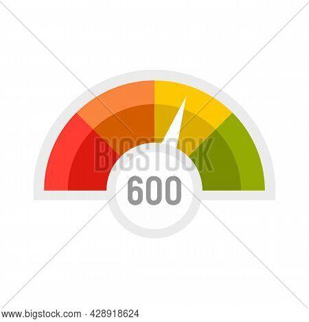Benchmark Level Icon. Flat Illustration Of Benchmark Level Vector Icon Isolated On White Background