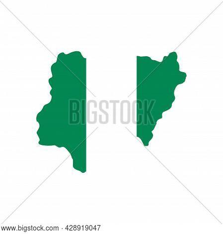 Nigerian Territory Icon. Flat Illustration Of Nigerian Territory Vector Icon Isolated On White Backg