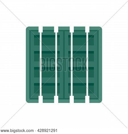 Ship Cargo Container Icon. Flat Illustration Of Ship Cargo Container Vector Icon Isolated On White B