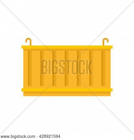 Dockyard Cargo Container Icon. Flat Illustration Of Dockyard Cargo Container Vector Icon Isolated On