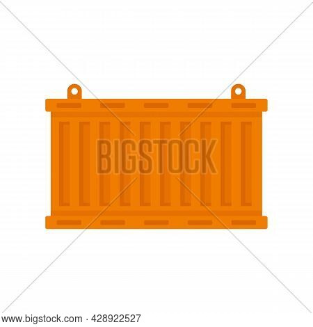 Express Cargo Container Icon. Flat Illustration Of Express Cargo Container Vector Icon Isolated On W