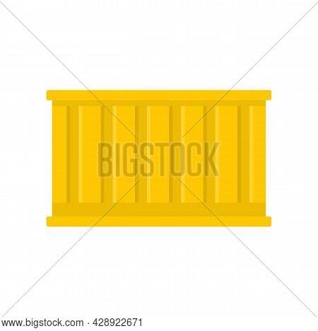 International Cargo Container Icon. Flat Illustration Of International Cargo Container Vector Icon I