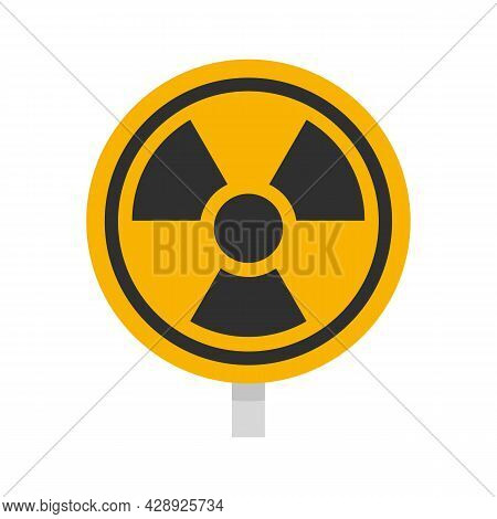 Hazard Radiation Sign Icon. Flat Illustration Of Hazard Radiation Sign Vector Icon Isolated On White