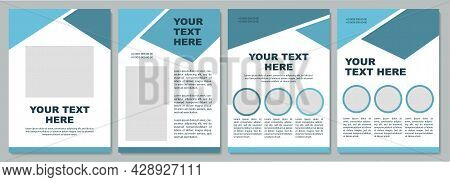 Geometric Corporate Brochure Template. Flyer, Booklet, Leaflet Print, Cover Design With Copy Space.