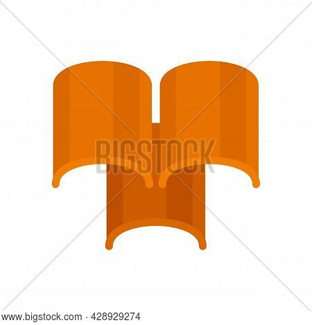 Roof Tiles Icon. Flat Illustration Of Roof Tiles Vector Icon Isolated On White Background