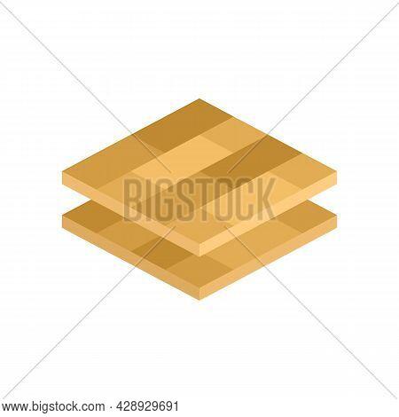 Wood Floor Tiles Icon. Flat Illustration Of Wood Floor Tiles Vector Icon Isolated On White Backgroun